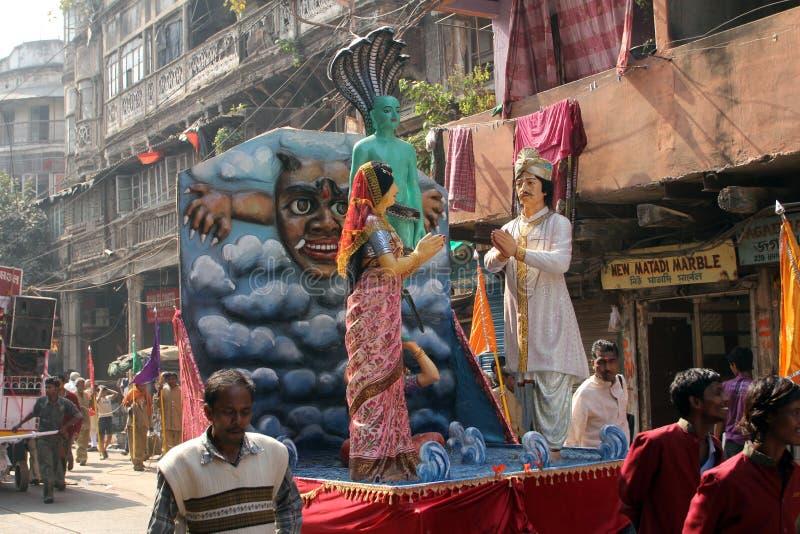 Procissão Jain anual de Digamber em Kolkata fotografia de stock