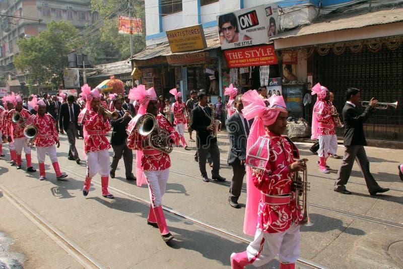 Procissão Jain anual de Digamber em Kolkata fotografia de stock royalty free
