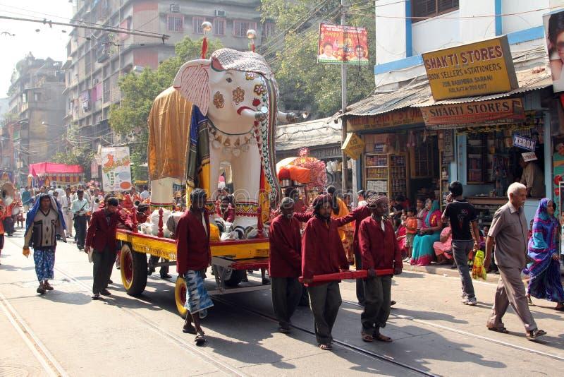 Procissão Jain anual de Digamber em Kolkata foto de stock royalty free