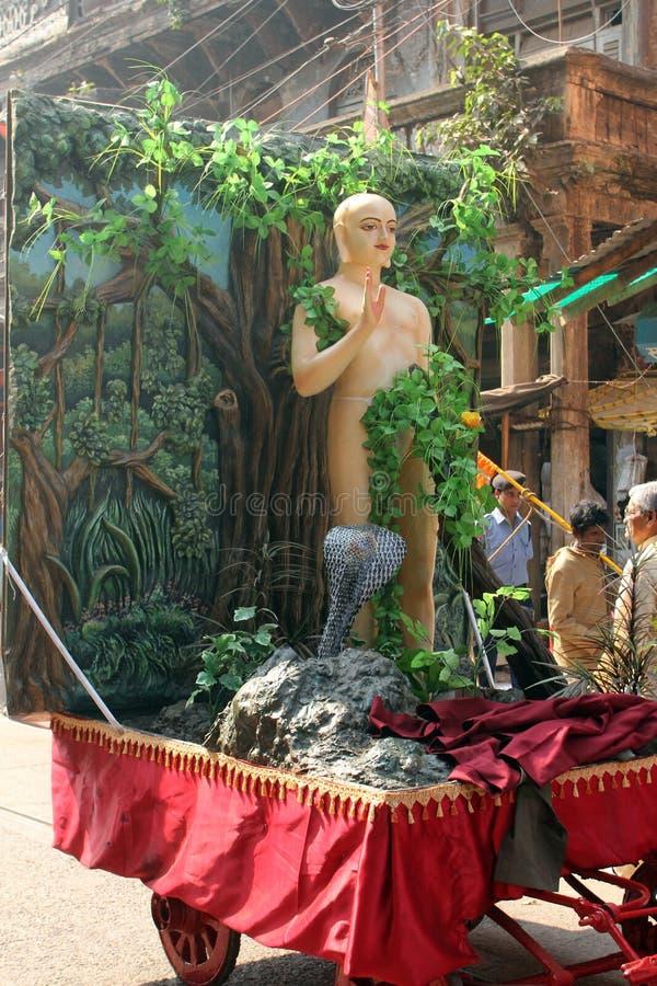 Procissão Jain anual de Digamber em Kolkata imagens de stock royalty free