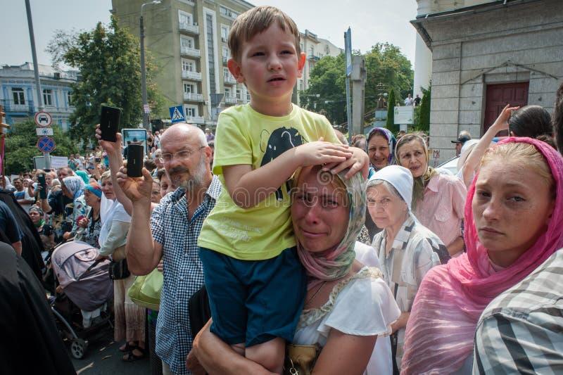 Procissão para a paz em Kyiv imagem de stock