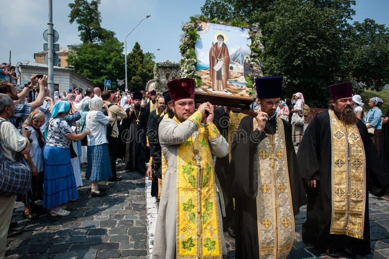 Procissão para a paz em Kyiv imagens de stock
