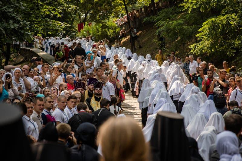 Procissão para a paz em Kyiv imagens de stock royalty free