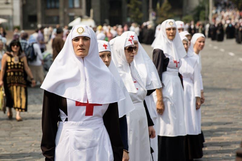 Procissão para a paz em Kyiv fotos de stock