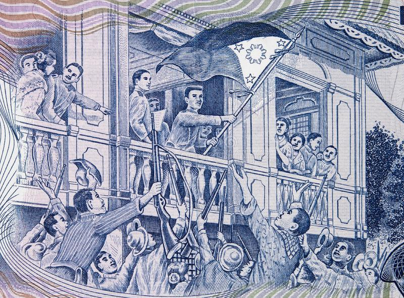 Proclamación de la Declaración de Independencia filipina en el Em fotos de archivo libres de regalías