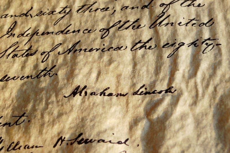 Proclamación de la emancipación fotografía de archivo