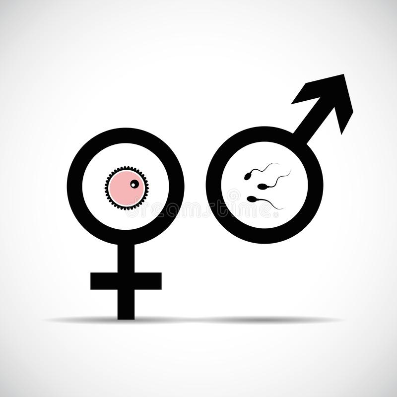 Procréation hommes-femmes de symbole illustration de vecteur
