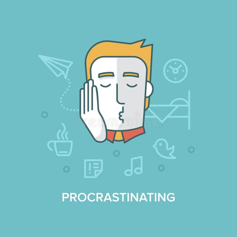 procrastinare royalty illustrazione gratis
