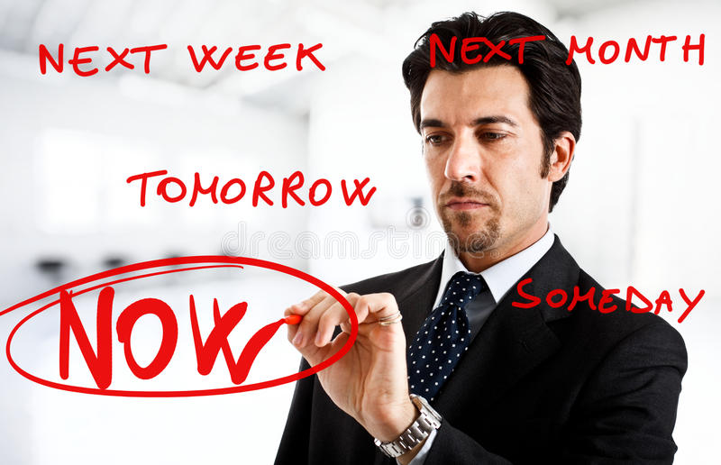 Procrastination stock photography