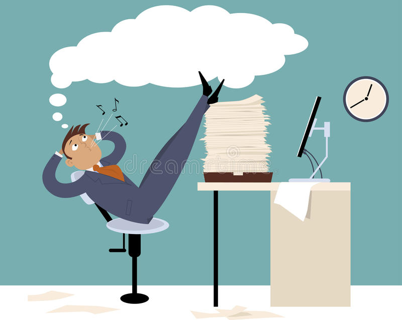 procrastination ilustração royalty free