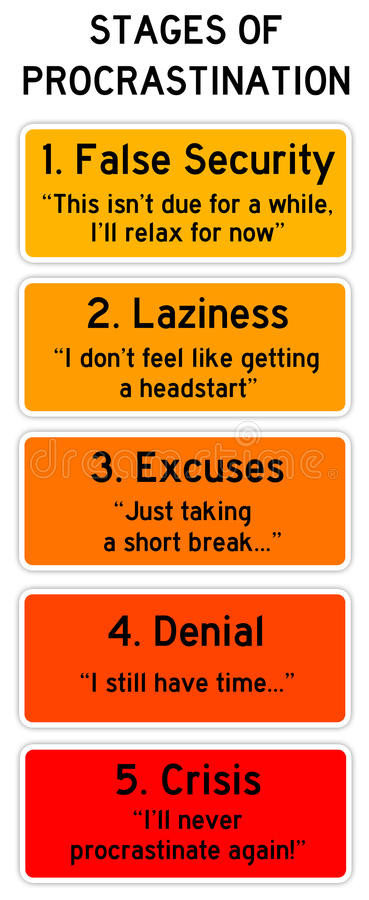 Procrastination stock illustration