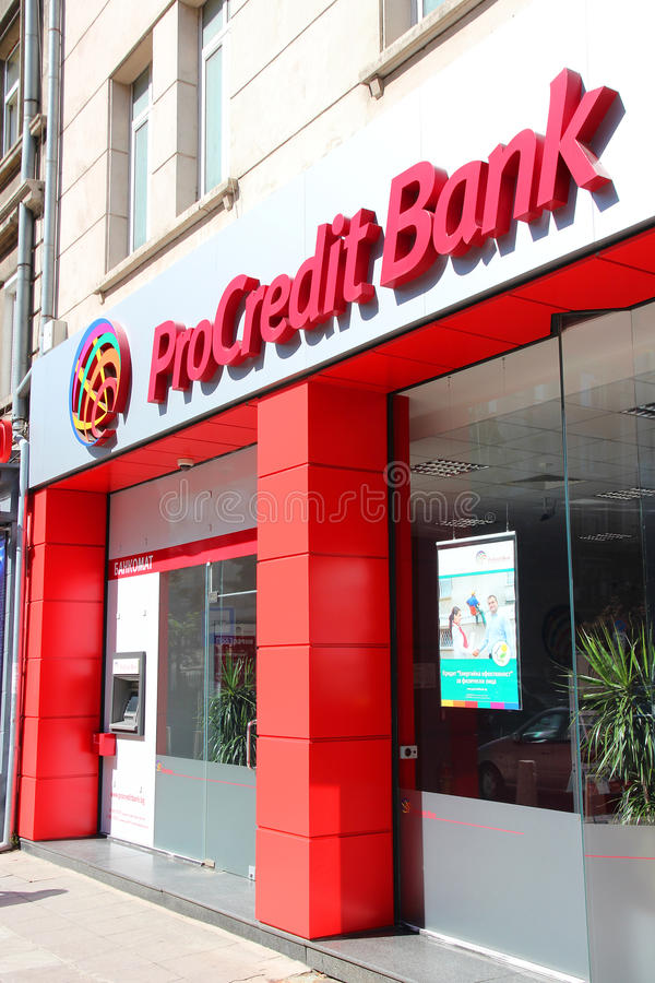 ProCredit Bank in Bulgaria stock photography