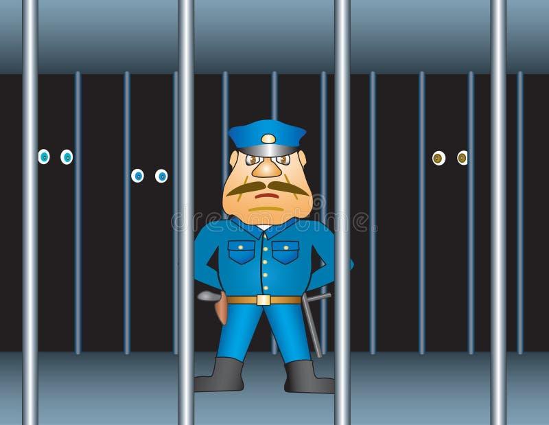 Procurador de la prisión stock de ilustración