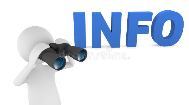 Procurando a informação ilustração stock