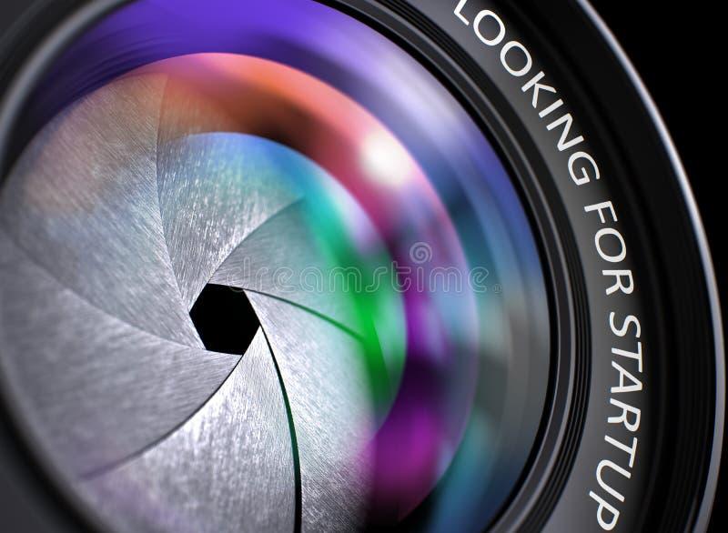 Procurando a partida na lente da câmera de reflexo closeup 3d imagens de stock royalty free