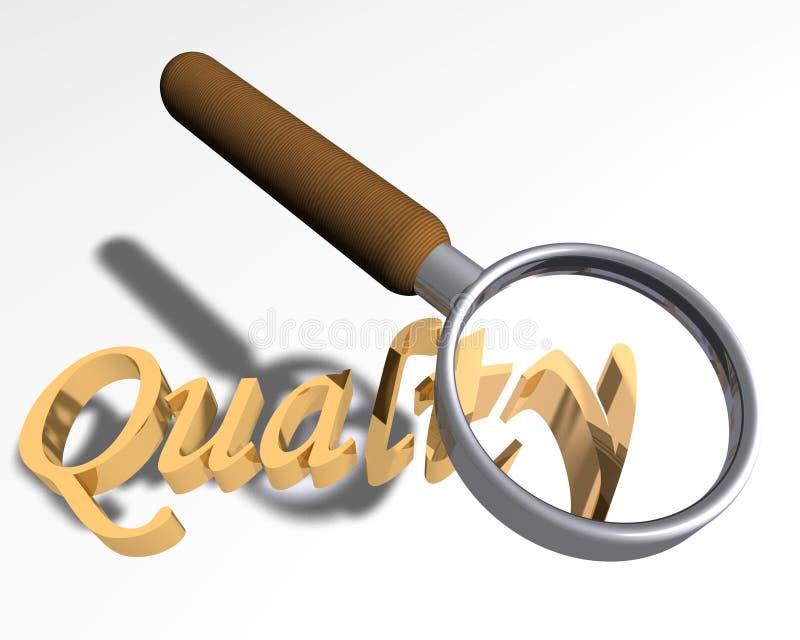 Procurando a qualidade ilustração royalty free