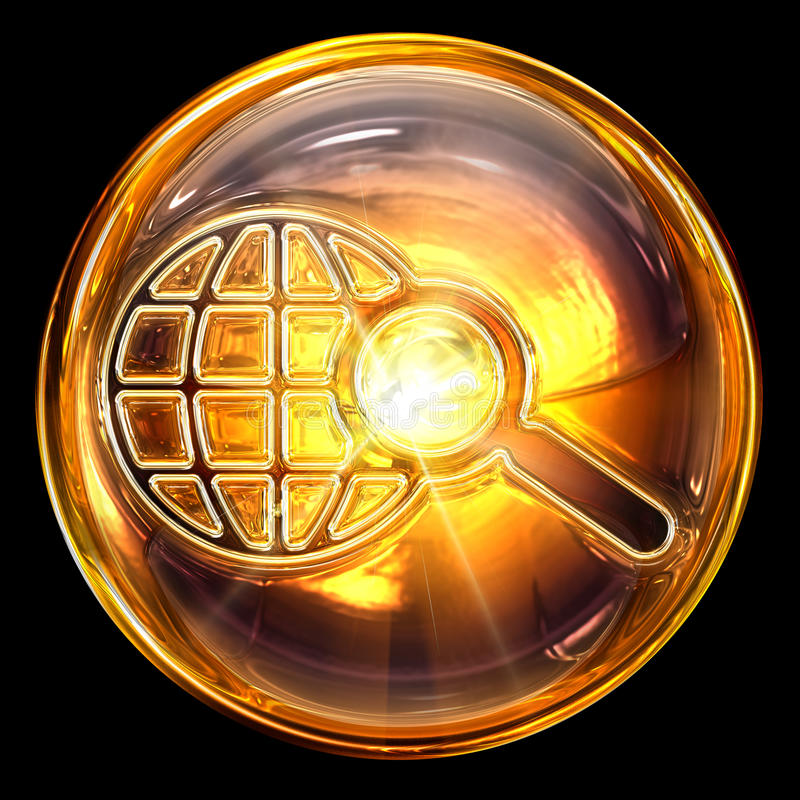 Procurare o vidro do ícone. ilustração royalty free