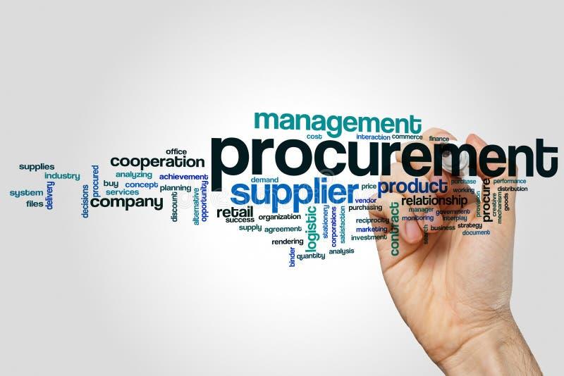 Procurement word cloud stock photography