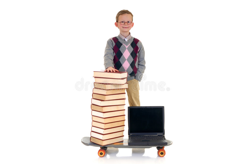 Prodigy internet library surfing royalty free stock images