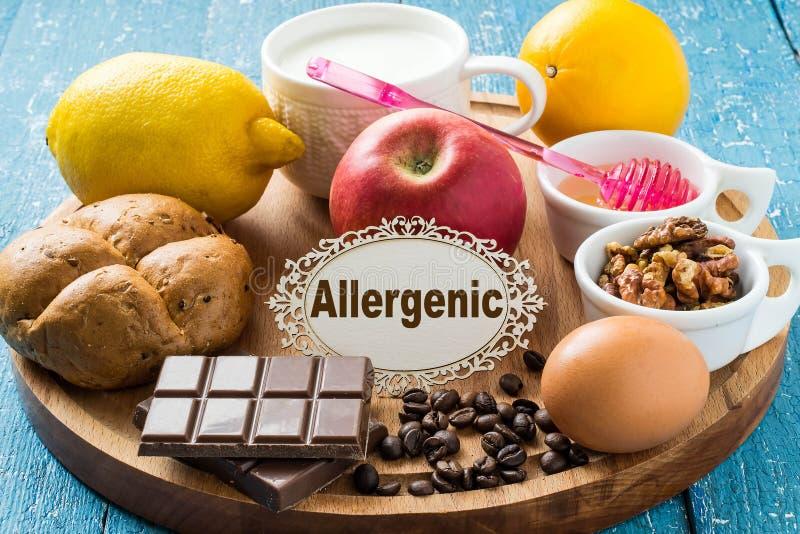 Prodotti che causano l'allergia immagini stock