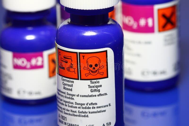 Prodotti chimici fotografia stock