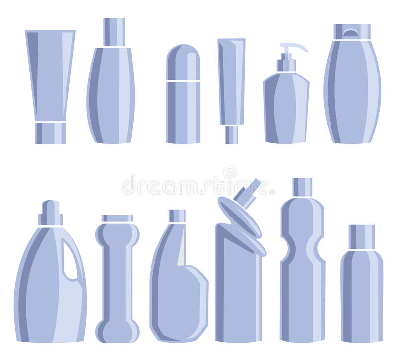 Prodotti chimici di famiglia Illustrazione di vettore immagine stock libera da diritti