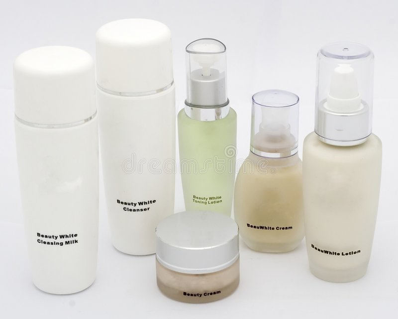 Prodotti cosmetici immagine stock