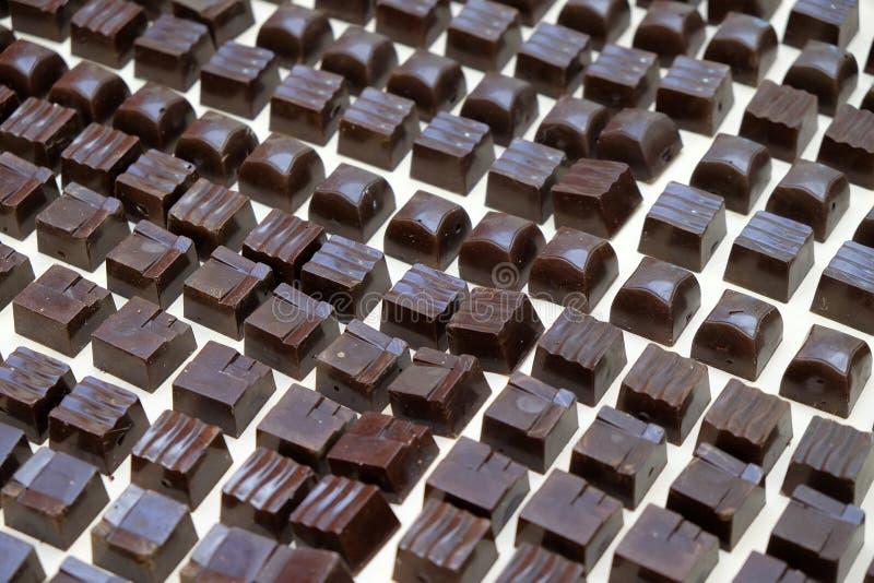 Prodotti del cioccolato esibiti al cioccolato giusto a Zagabria immagine stock libera da diritti