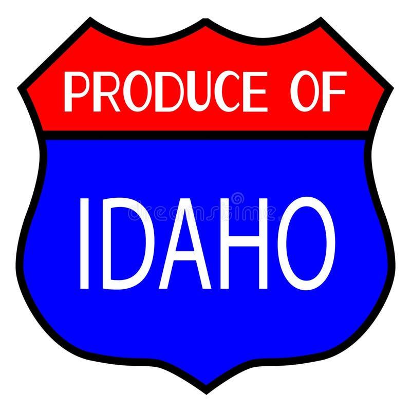 Prodotti dell'Idaho royalty illustrazione gratis