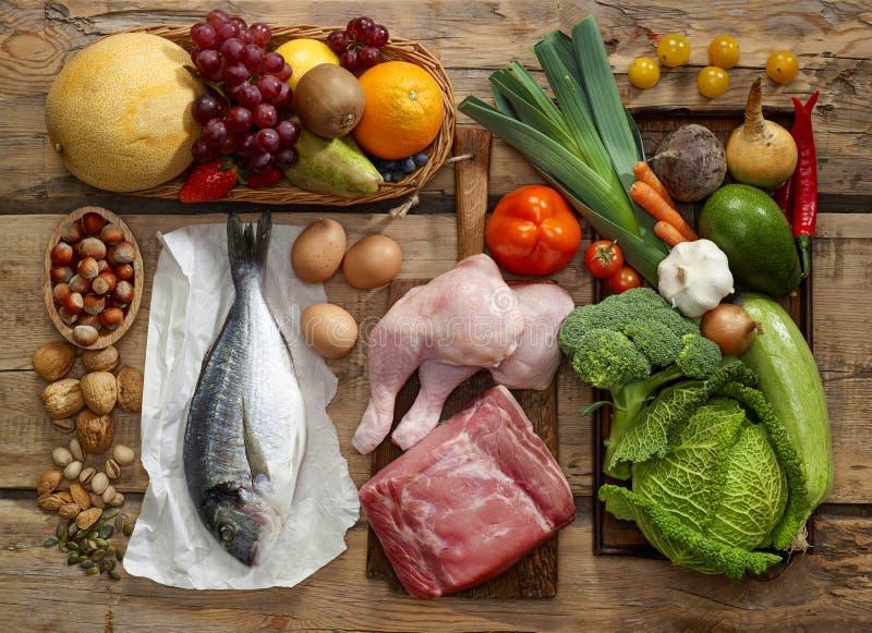 Prodotti di dieta di Paleo immagine stock