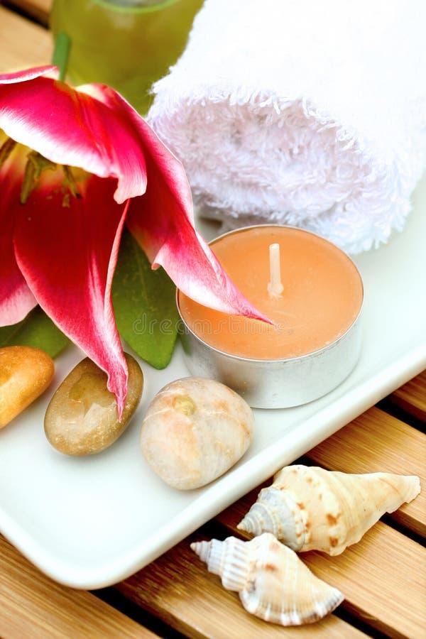 Prodotti di terapia di massaggio fotografie stock libere da diritti