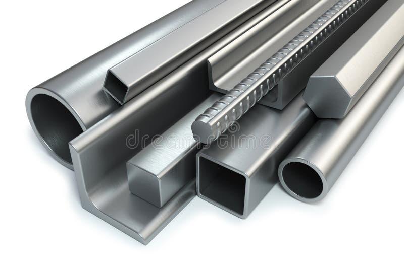 Prodotti laminati d'acciaio illustrazione vettoriale