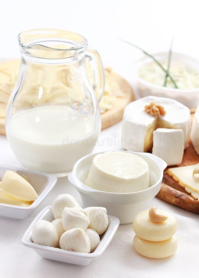 Prodotti lattier-caseario fotografia stock libera da diritti
