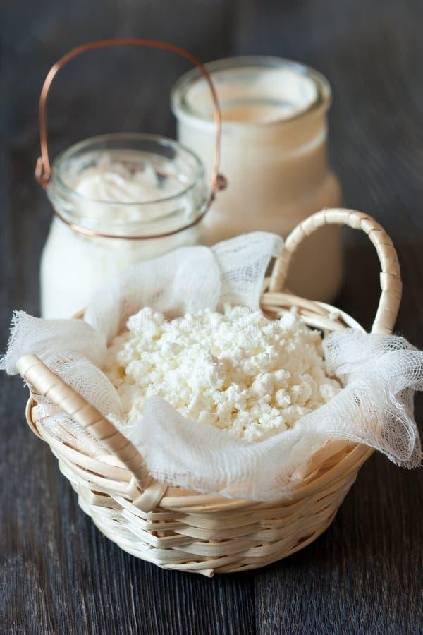 Prodotti lattier-caseario. fotografia stock
