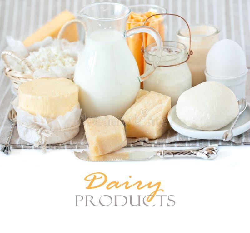 Prodotti lattier-caseario. fotografia stock libera da diritti