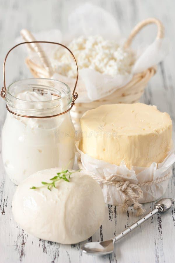 Prodotti lattier-caseario. immagini stock libere da diritti