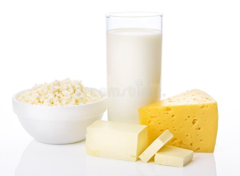 Prodotti lattier-caseario freschi immagine stock libera da diritti