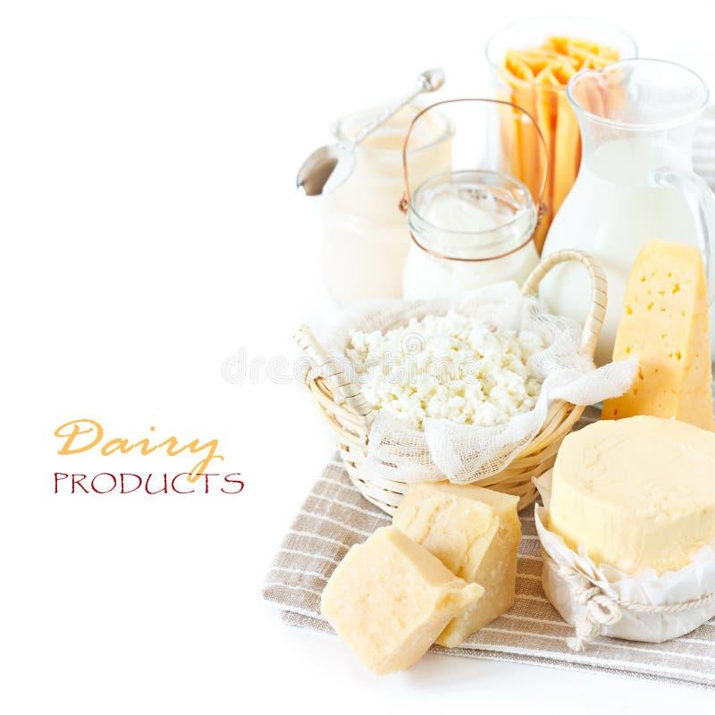 Prodotti lattier-caseario freschi. immagine stock