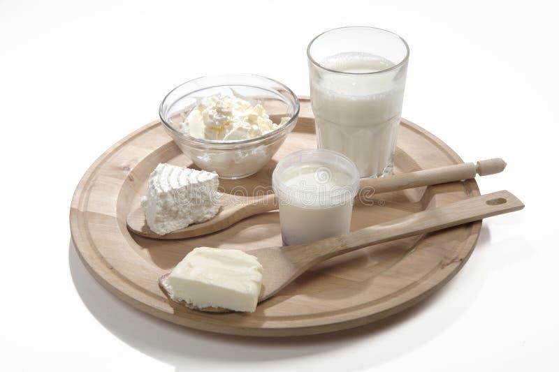 Prodotti lattier-caseario senza lattosio fotografie stock libere da diritti