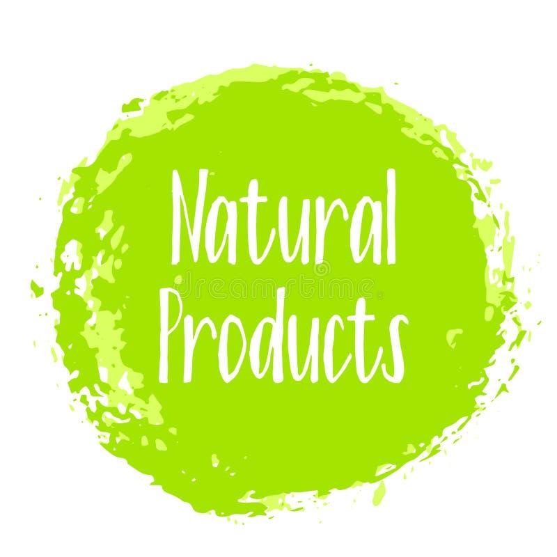 Prodotti naturali icona, vettore dell'etichetta del pacchetto illustrazione di stock