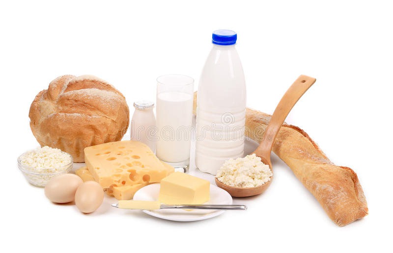 Prodotti sani della prima colazione. fotografia stock libera da diritti
