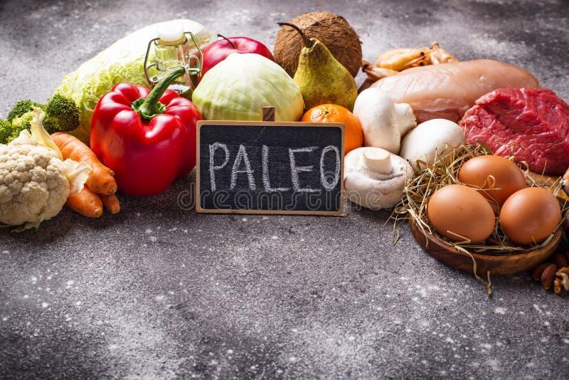 Prodotti sani per la dieta di paleo immagine stock libera da diritti