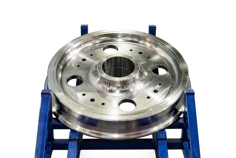 Prodotto del ricambio auto o della puleggia dalla fabbricazione dal materiale di centro di lavorazione di CNC di qualità e di alt fotografia stock