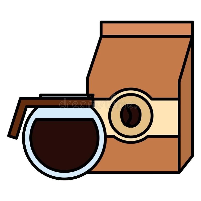 Prodotto della borsa di caff? con la macchinetta del caff? royalty illustrazione gratis