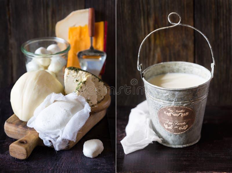 Prodotto lattiero-caseario fresco fotografia stock