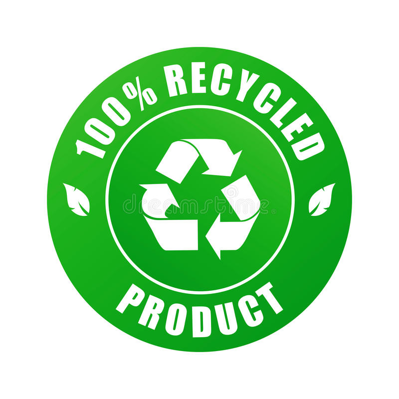 prodotto riciclato 100% (vettore) royalty illustrazione gratis