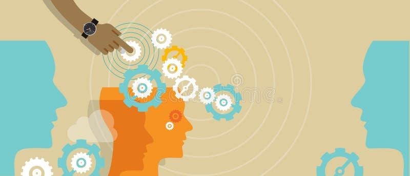 Produção automatizada negócio do conceito da automatização de processo ilustração do vetor