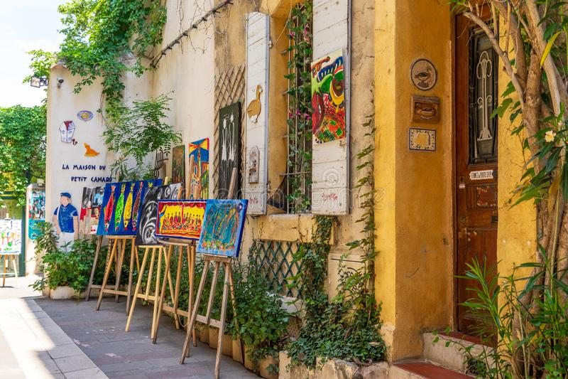 Produção da arte da rua em Marselha imagens de stock