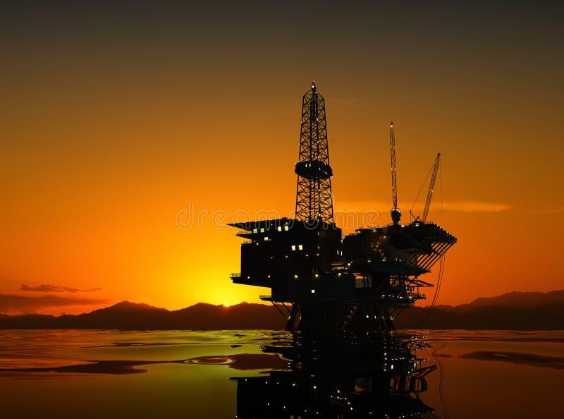 Produção de petróleo ilustração stock