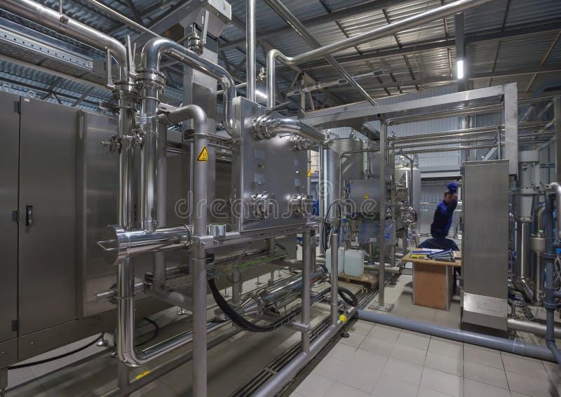Produção de planta de água gasosa fotos de stock